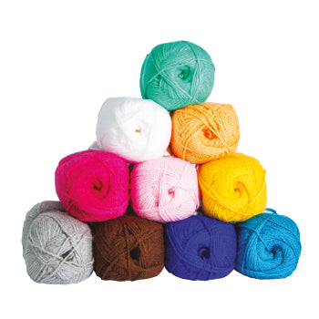THREADS AND YARNS, 100g Balls, Pack of 10