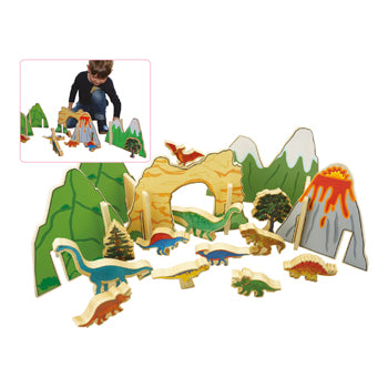 HAPPY ARCHITECT DINOSAURS, Ages 3+, Set of 22 pieces