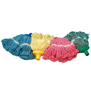 SYR CLEAN, MOP HEAD, COLOUR CODED, With Socket, Interchange Freedom Mini, 480g, Blue, Each