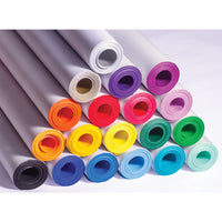 POSTER PAPER ROLLS, POSTER PAPER, ROLLS, Brights & Metallics, 760mm x 50m, Lemon Yellow, Each