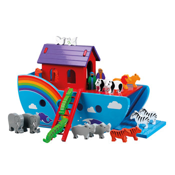 WOODEN TOY, PLAY SETS, LARGE NOAH'S ARK, Age 3+, Set