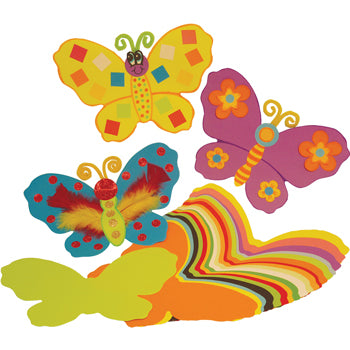 PRE-CUT PAPER SHAPES, Jumbo Butterflies, Pack of 100