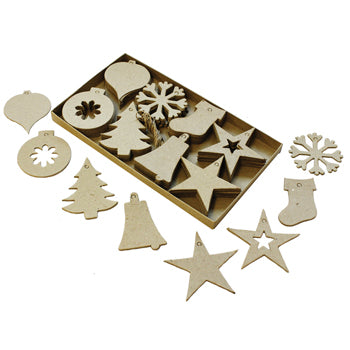 CHRISTMAS CUTOUT DECORATIONS, Pack of 80