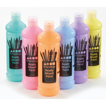PAINT, READY MIXED, Pastel Pack, Pack of 6 x 600ml