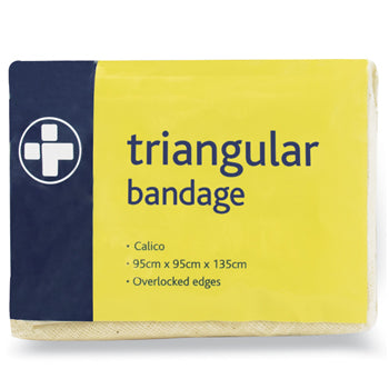 FIRST AID, BANDAGES, Triangular, Calico Hemmed, 950 x 1350mm, Each