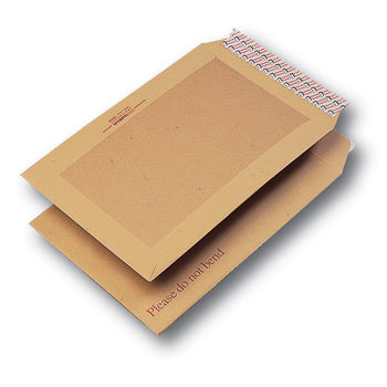 BOARD BACKED ENVELOPES, C4 (324 x 229mm), Peel/Seal, Pocket, 120gsm Manilla, Box of 125