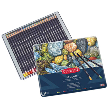 ARTIST'S COLOURED PENCILS, Derwent Studio, Pack of 24