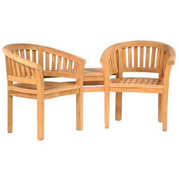 LEISURE BENCH, TEAK FURNITURE, Windsor Partner Bench, Each