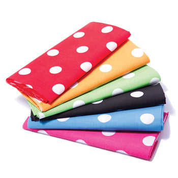 FABRIC PACKS, Spot Polycotton, 1.05 x 1m approx., Pack of 6