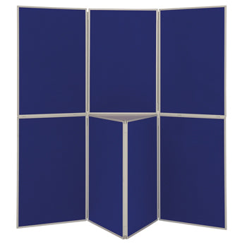LIGHTWEIGHT FOLD-UP DISPLAY SCREEN, Floor Standing, 7 Panel Screens, Blue