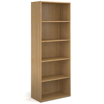 BOOKCASES, Slimline - 390mm depth, 2030mm height with 4 shelves, Oak