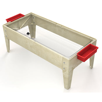 SAND AND WATER PLAY, SAND & WATER ACTIVITY TABLE WITH LID, Without Castors, Oatmeal, Each