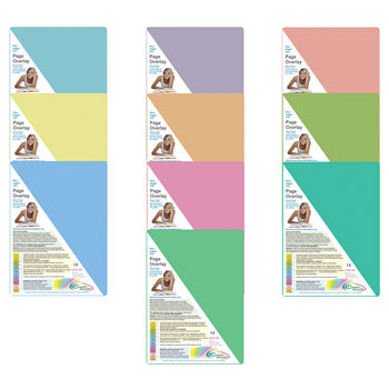 READING AIDS, Tinted Overlay Page, Pack of 10 sheets