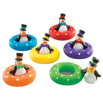 SAND & WATER PLAY, COLOUR PLAY PENGUINS, Age 2+, Set of 6