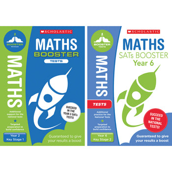NATIONAL CURRICULUM SATS BOOSTER CLASSROOM PROGRAMME, Maths Tests, Year 2, Pack of 10