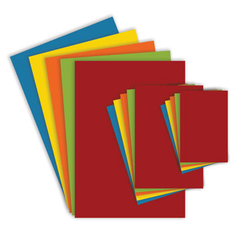 BRIGHT CARD, Bright Red, A4, 380 micron, Pack of 100 sheets