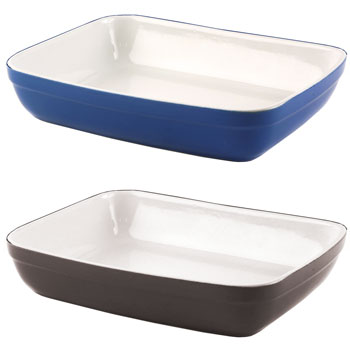 DISH, Oven to Tableware, Rectangular, 308 x 250 x 64mm, Blue, Each