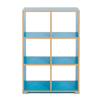 CUBE ROOM DIVIDERS, 6 Cube (vertical), Cyan
