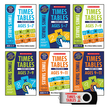 NATIONAL CURRICULUM TIMES TABLES CLASSROOM PACK, Pack