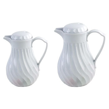 COFFEE JUG, Porcelain Lookalike, White, 1.2 litres, Each