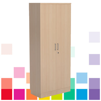 DOUBLE  DOOR CUPBOARD, 1800mm height, Oak, Smartbuy