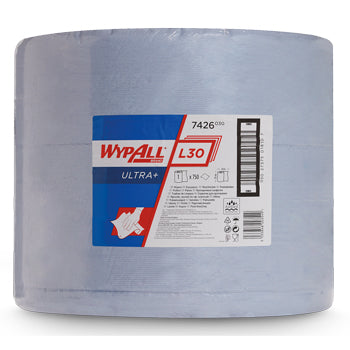 HEAVY DUTY BLUE WIPERS, WypAll(R) L30 Ultra+ Large Roll Wipers (7426), Kimberly-Clark, Roll