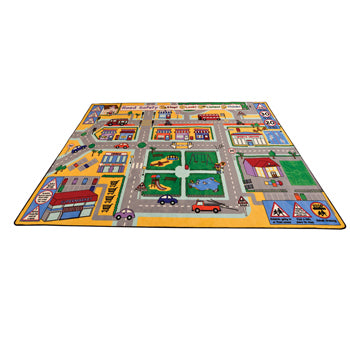 LEARNING RUGS, CHILDREN'S CUT PILE RUGS, Large Road Safety, 2515 x 3555mm, Each