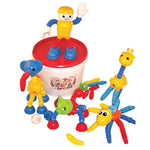 POPOIDS, Large Animal Set with Man, Age 3-8, Set of 142 pieces