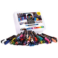 UNI POSCA PAINT MARKERS, Fine Tip Class Pack, Class Pack of 40