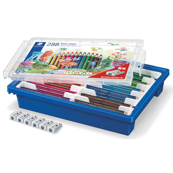 STANDARD TRIANGULAR COLOURED PENCILS, STAEDTLER(R) Noris Colour 187, Gratnells Tray, Class Pack of 288