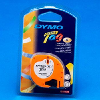 ELECTRONIC LABELLING MACHINES, DYMO(R) LetraTag Tapes, Size: 12mm x 4m, Plastic - Pearl White, Each