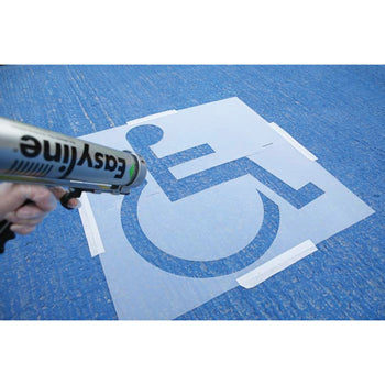 LINE MARKING PAINT, ROCOL EASYLINE STENCILS, Disabled Symbol, 1000 x 850mm, Each