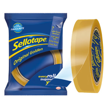 SELLOTAPE(R) ORIGINAL TAPE, Large Core Rolls, 18mm x 66m, Pack of 8