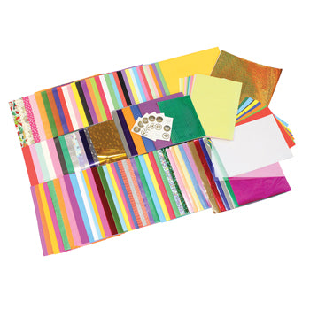 PAPER AND BOARD BULK PACK, Assorted Craft Paper & Card, Pack of 540+ Sheets