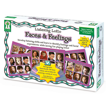 FACES & FEELINGS LISTENING LOTTO, Age 4+, Each