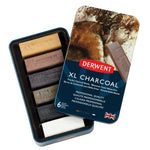 CHARCOAL STICKS, Derwent XL Blocks, Pack of 6