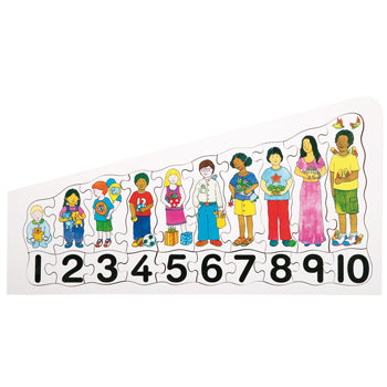 CHILDREN COUNTING PUZZLE, Age 3+, Set