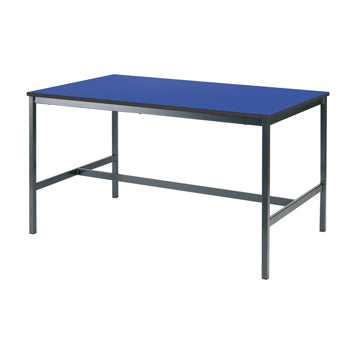 SCIENCE & ART TABLES, LABORATORY TABLE WITH SOLID CDF LAMINATE TOP, 1200 x 600mm, 750mm height, Blue