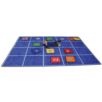 LEARNING RUGS, CHILDREN'S CUT PILE RUGS, Large Grid, 2570 x 3600mm, Each