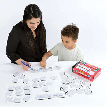 DRYWIPE PUZZLE PIECES WITH WRITING LINES, Age 4+, Set of 52