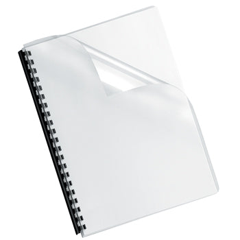 CLEAR BINDING COVERS, Clear, A4, 180 micron, Pack of 100