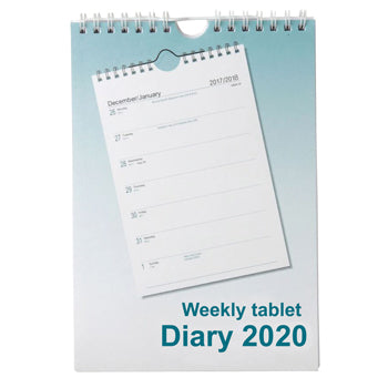 A5 TABLET STYLE DIARIES 2020, One Week to View, Each