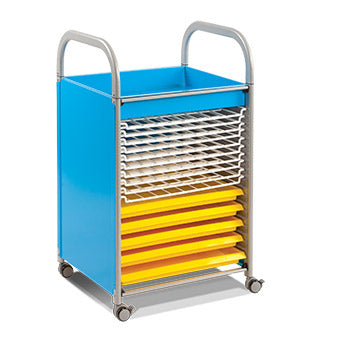 CALLERO ART, ART TROLLEY, With 5 Trays & 10 Drying Racks, Blue