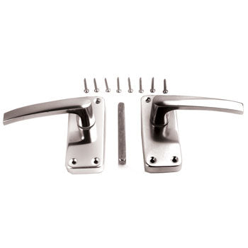 LEVER DOOR FURNITURE, Latch, Satin Anodised Aluminium (SAA), Latch, Set