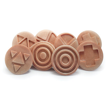 INTERLOCKING SENSORY STONES, Age 3+, Set of 8