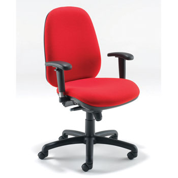 SWIVEL, OPERATOR CHAIRS, HIGH BACK HEAVY DUTY, With Adjustable Arms - (710mm width), Tarot
