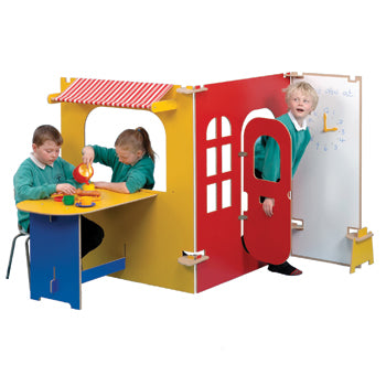 TWOEY TOYS, MAPLE EFFECT & COLOURED PLAY PANEL FURNITURE, Cafe/Tea Room, For Ages 3+, Coloured