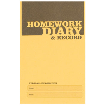 A6 HOMEWORK DIARY, Pack of 20