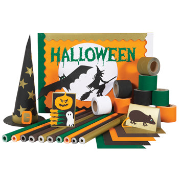BUMPER VALUE ASSORTED PACKS, Hallowe'en, Pack of 100 sheets + 20 rolls