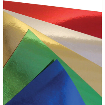 COLOURED FOIL CARD ASSORTED, Pack of 4 x 5 sheets